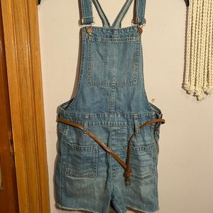 Madewell Adirondack Overall Shorts, Size: XS